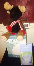 New In Box Scentsy Buddy Mangus The Moose Retired Rare WITH scent Pak