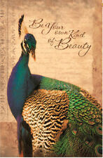 PEACOCK 'BE YOUR OWN KIND OF BEAUTY' Breeze Decor 2 Sided Garden Flag USA Print