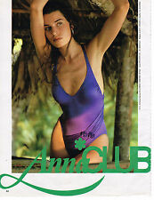 PUBLICITE ADVERTISING 064  1985  ANNA  CLUB  maillots de bain