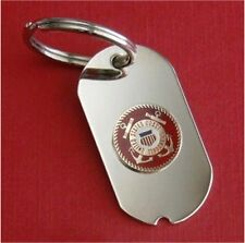 US Coast Guard Dog Tag Key Ring USCG Military Custom Engraved Personalized Gift