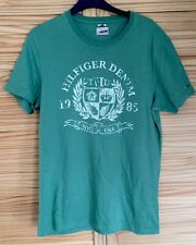 HILFIGER DENIM HERITAGE T SHIRT VINTAGE RETRO UK M