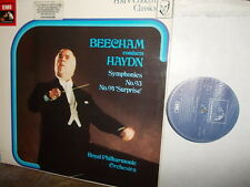 "HAYDN: Symphonies n°93 + 94 ""Surprise""   Royal PO Beecham / EMI UK stereo VG++"