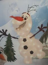 CHRISTMAS OUTDOOR LIGHTED DISNEY'S FROZEN MOVIE TINSEL OLAF SNOWMAN FIGURE YARD