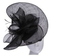 3 Fascinator Hats with Headband Attached in Black, Pink or Royal Blue Tea Party