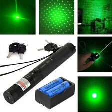 10 Miles 303 Green Laser Pointer Lazer Pen 532nm 5mw Beam Light+2x 18650+Charger
