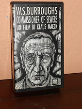 """VHS VIDEOCASSETTA """"COMMISSIONER OF SEWERS""""   W.S. BURROUGHS. CINEMA"""
