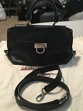 salvatore ferragamo sofia medium black handbag