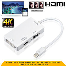 4K*2K Mini Display Port A Hdmi Vga Dvi Cable Adaptador Para Macbook Pro Air UK