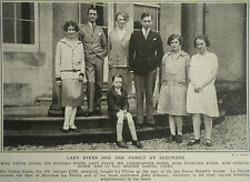 Lady Sykes Edith Violet Gorst And Family Sledmere House 1926 Photo Article 7009