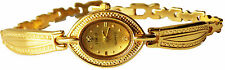 Beautiful Ladies Gold Oval  Dial Gold  Bracelet Strap Women's Watch