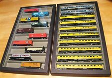 (3) N Gauge Scale Passenger Glass Display Cases, Carry,Storage,for Model Trains!