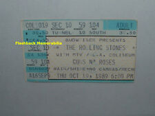 ROLLING STONES / GUNS N' ROSES 1989 Concert Ticket Stub L.A. Coliseum VERY RARE