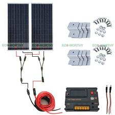 200W  Complete Off Grid Solar Panel Kit with Temperature Controller for 12V Home