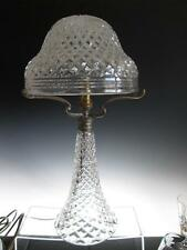 "LARGE 19.75"" ANTIQUE HEAVY CUT GLASS CRYSTAL MUSHROOM TABLE LAMP c1900"