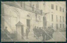 Belluno città Cambio della Guardia Militari Foto cartolina QT1137