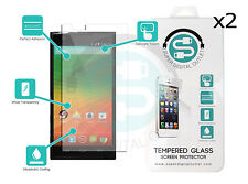 2x Two Tempered Glass Screen Protector (2.5D) 0.33mm for ZTE ZMAX Z970