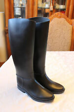 RUBBER RIDING RAIN BOOTS WOMENS SIZE 9 BLACK EQUESTRIAN MADE IN BRAZIL