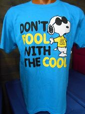 Mens Licensed Peanuts Snoopy Don't Fool With The Cool Shirt New XL