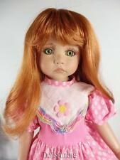 """LONG CARROT RED DOLL WIG SIZE 10/11"""" FITS VINTAGE AND MODERN DOLLS"""