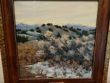 """Michael Gregory McGinnis """"Winter Chemise"""" oil painting signed,signed titled back"""