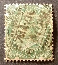 India Two Annas Six Pies Used Postage Stamp - Queen Victoria