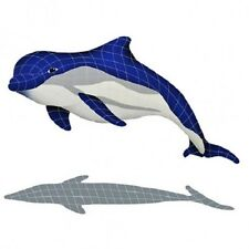 Mosaic Bottlenose Dolphin Upper Tile Swimming Pool Patio Deck Wall Bath Walk