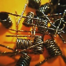(30) Tiger Wire Coils (Clapton Alien Twisted Micro Rda Coils) + Cotton