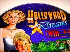 TWO HOLLYWOOD DREAMS SLOTS ART  ~~ GREAT COLORFUL CASINO INSERTS