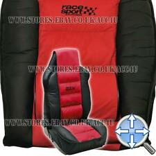 Race Sport Red Black Luxury Padded Lumbar Support Car Single Seat Cover Cushion