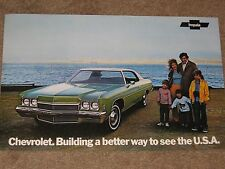 1972 Chevrolet Dealer Sales-Showroom Brochure, Impala Bel Air