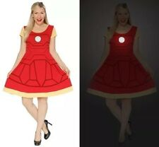 "Marvel Her Universe Hot Topic JUNIOR XL Dress: IRON MAN ""Glow-in-the-Dark"" Logo!"
