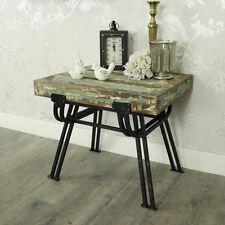 Holz metall beunruhigt stuhl beistelltisch shabby chic wohnzimmer