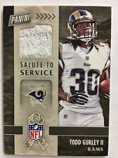 2016 PANINI BLACK FRIDAY TODD GURLEY SALUTE TO SERVICE TOWEL SWATCH ROOKIE RC
