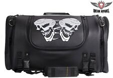 Motorcycle Sissy Bar Bag / Trunk With Skull - free shipping