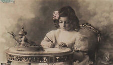 Girl Made A List Of Pros And Cons Of Privileged Living Vintage Photo Postcard