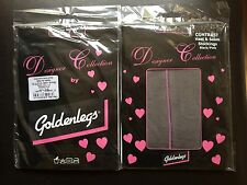 Two Pairs Of Black Stockings With Pink Seams!
