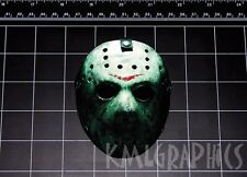 Friday the 13th Jason Vorhees Hockey Mask decal sticker Crystal Lake 80s horror