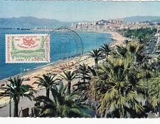 CANNES ETATS GENERAUX DES COMMUNES d'EUROPE plage Suquet  timbrée 1960