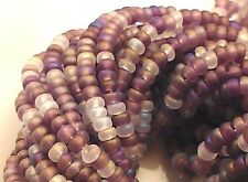 "Czech Glass Seed Beads Size 10/0 "" MIX AMETHYST AB MATTE "" 1 Hank"