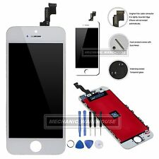 For iPhone 5S SE LCD Screen Digitizer Touch Glass Assembly Replacement White UK