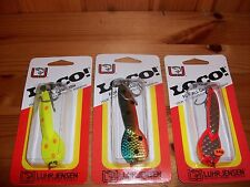 Luhr Jensen Loco Spoon - Size #3 - 3 Lure Set Multi Color Spoons  - NEW!
