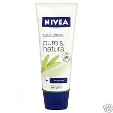 Nivea Hand Cream Protection Pure & Natural for Dry Hands with Bio Argan Oil