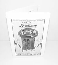 Brunswick Phonograph fitted with Ultona Reproducer Instruction Operating Manual