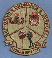 UNITED STATES NAVY MOBILE UNIT SIX EXPLOSIVE ORDNANCE DISPOSAL TEAM PATCH