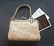 Coach Lurex Optic C Gold/Silver Kisslock Small Evening Bag/Clutch