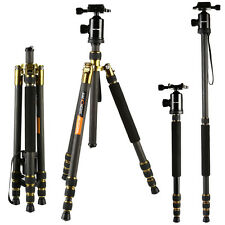 K&F Concept TC2534 Professional Carbon Fiber Tripod Monopod Ball Head Mount 66""