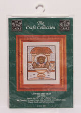 The Craft Collection Ltd Cross Stitch Kit, Lower the Seat, 75323