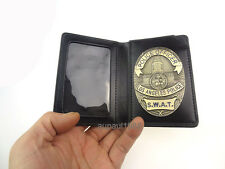 LAPD SWAT BLACK ID & BADGE HOLDER CASE WITH LAPD BADGE