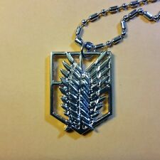 Attack on Titan metal Survey Recon Corps Wings pendant/necklace silver