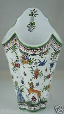 WALL POCKET 17 CENTURY ANTIQUE REPRODUCTION HAND PAINTED PORTUGAL MADE FLORAL